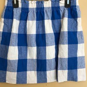 jcrew plaid skirt